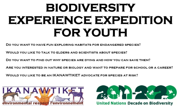 BIODIVERSITY EXPERIENCE EXPEDITION FOR YOUTH